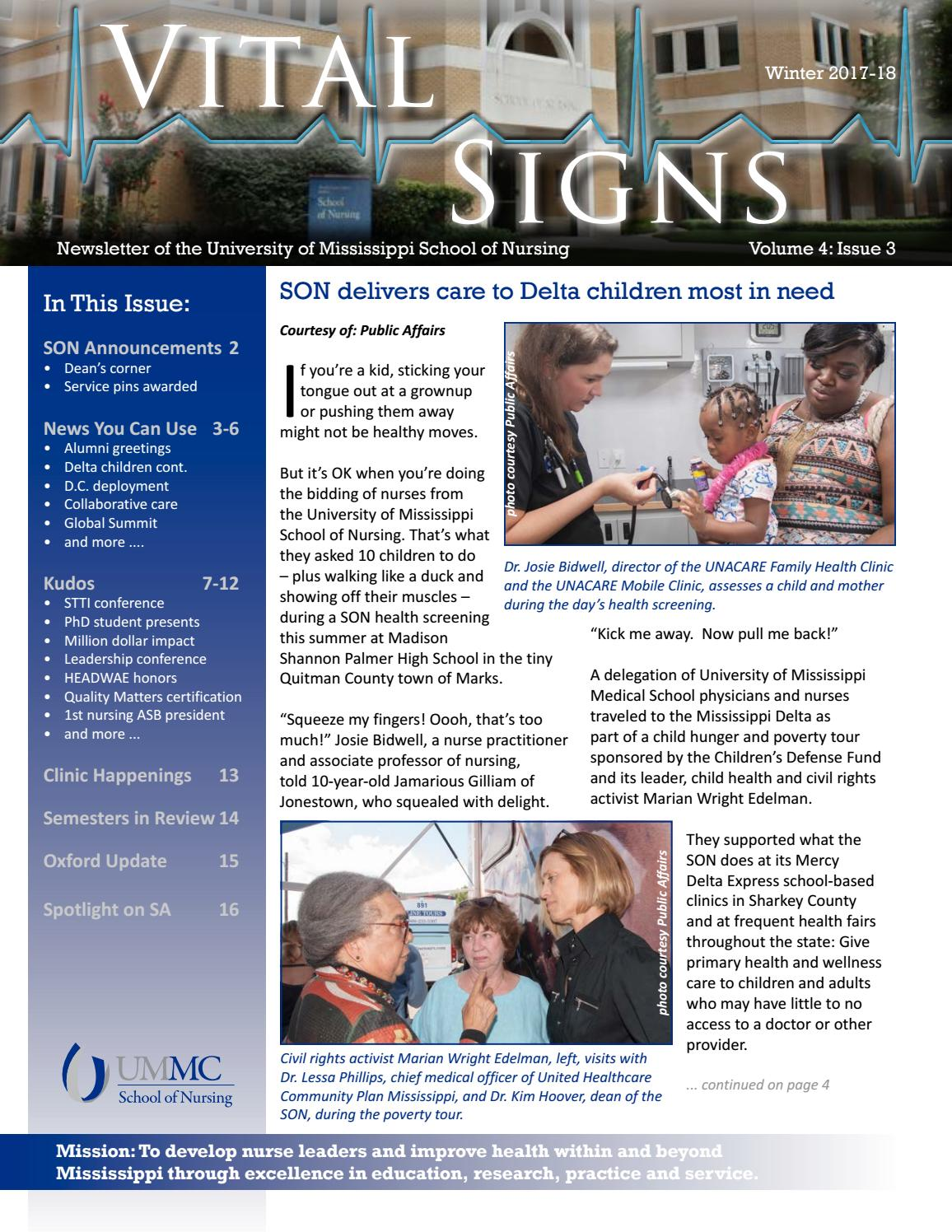 Vital Signs Winter 2017 18 By Ummc School Of Nursing Issuu