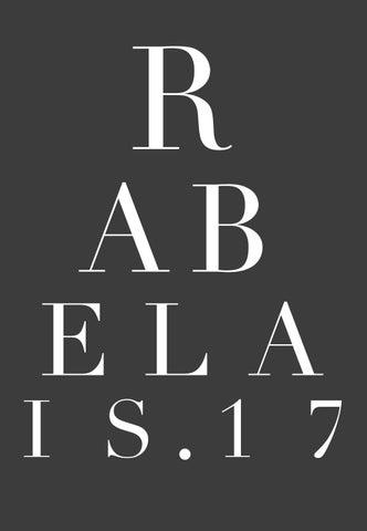 Rabelais Edition 6 By La Trobe Su Issuu