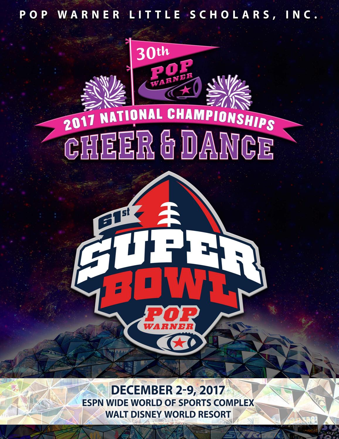 2017 Pop Warner National Championship Program By Pop Warner Little Scholars Issuu