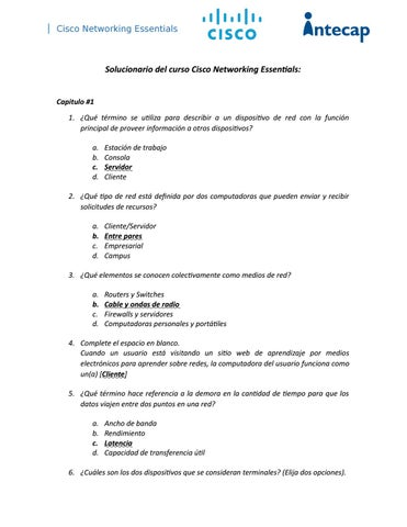 Cisco Networking Essentials By Rickyconde Issuu