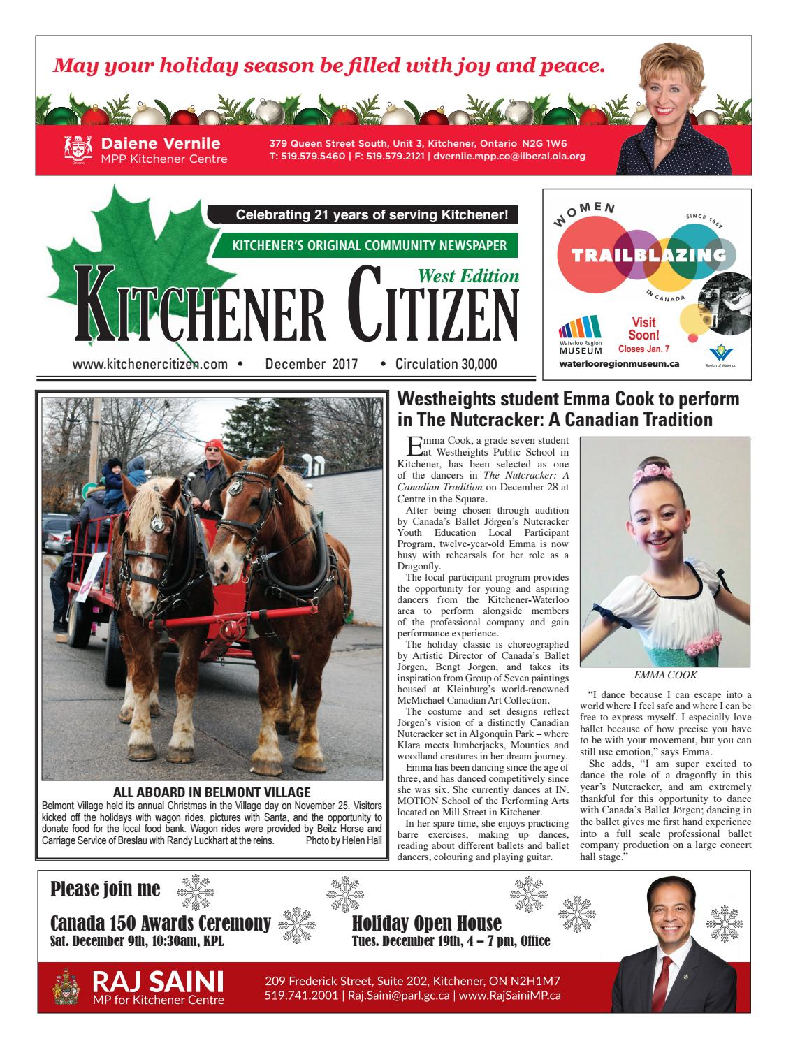 Kitchener Citizen - West Edition - December 2017 by Kitchener ...