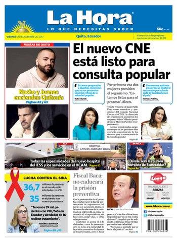 Quito 01 de diciembre del 2017 by Diario La Hora Ecuador - issuu 4015cad6446