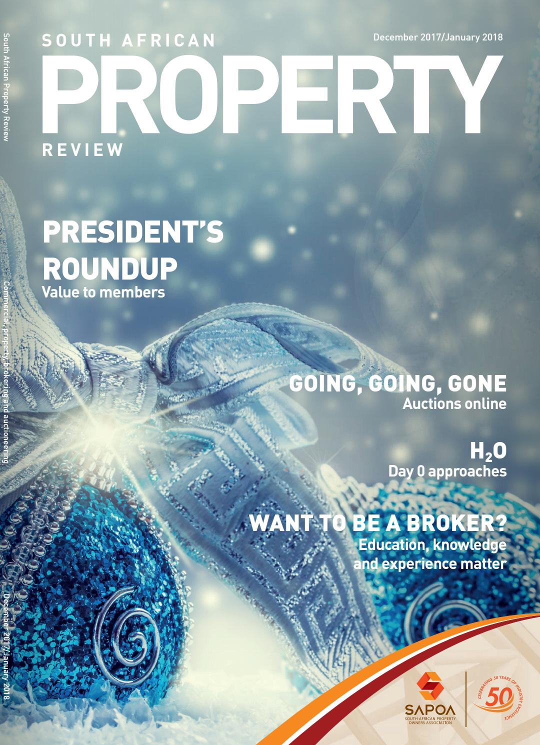 7c1f8db88d52 South African Property Review Dec Jan 2018 by SAPOA - issuu