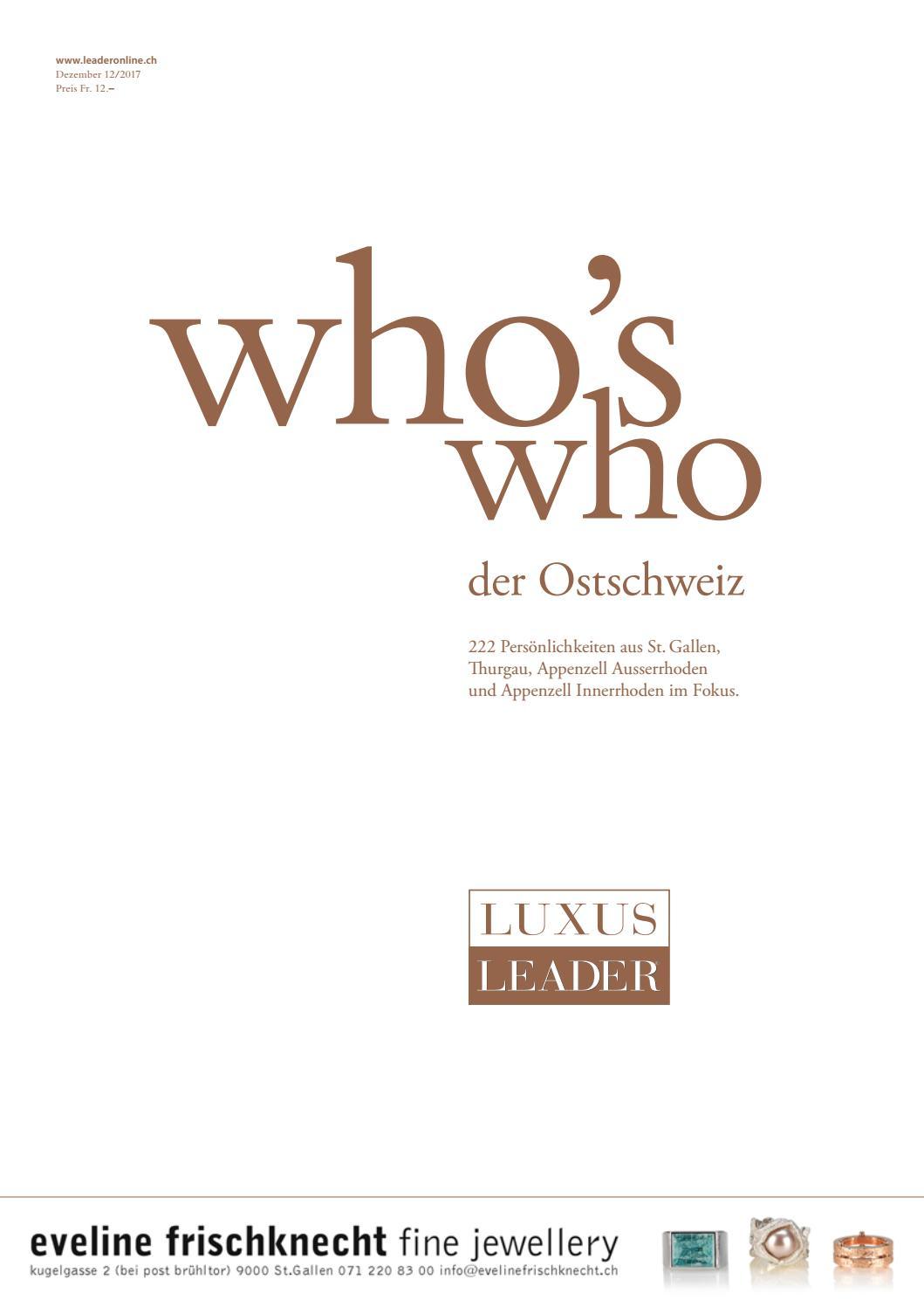 who\'s who Ostschweiz 2017 by LEADER - das Unternehmermagazin - issuu