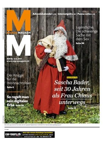 Verhaltensregeln Weihnachtsfeier Lustig.Migros Magazin 49 2017 D Aa
