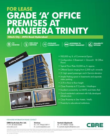 Manjeera trinity corporate pdf by Manjeera Construction - issuu