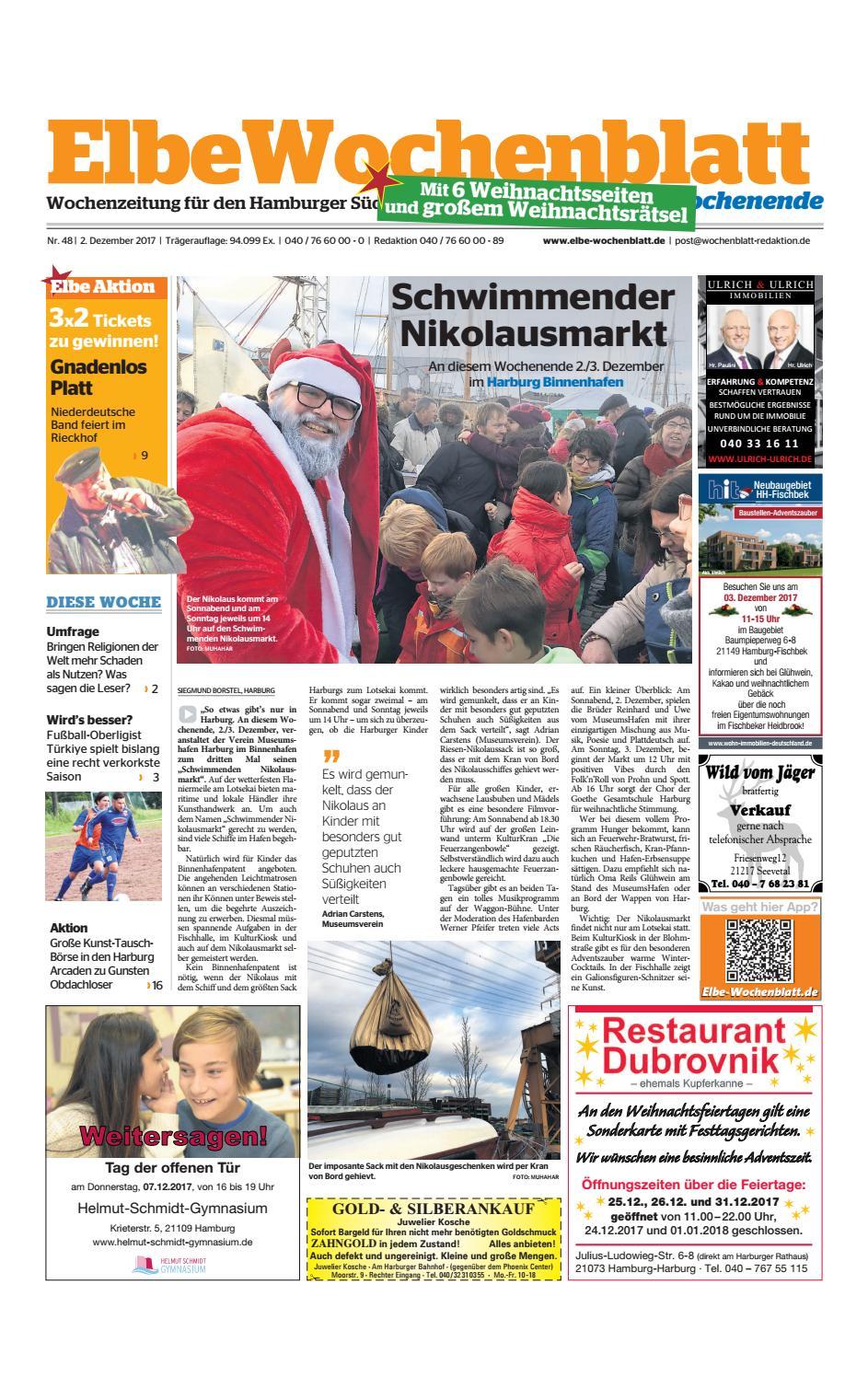 Wochenende KW48-2017 by Elbe Wochenblatt Verlagsgesellschaft mbH ...