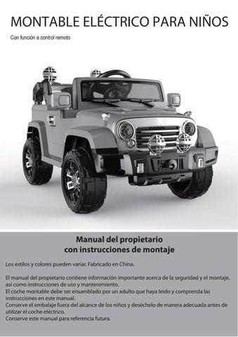 Manual De Usuario Jeep Jj245 By Importadora Sudamericana Issuu