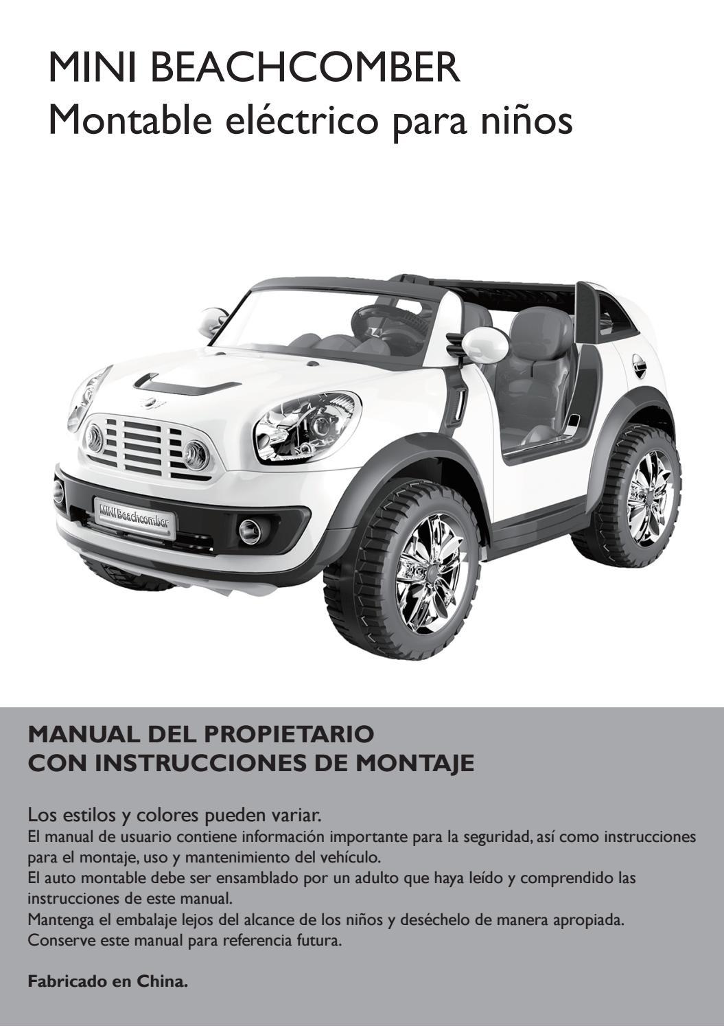 Mini automóvil cooper manual del propietario descargar gratis.