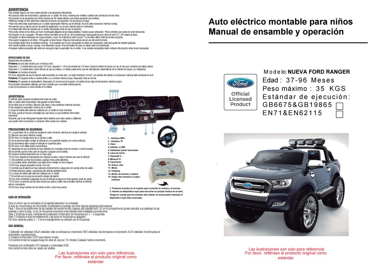 Manual De Usuario Ford Ranger Bjf650 By Importadora Sudamericana Issuu
