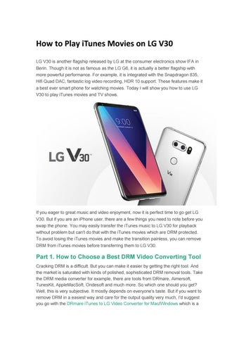 How to transfer itunes m4v movies to lg v30 by Ava Brown - issuu