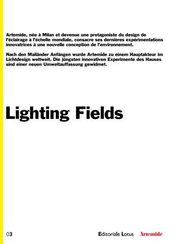 Lighting Fields 3 - 2015 FR/DE by Artemide - issuu
