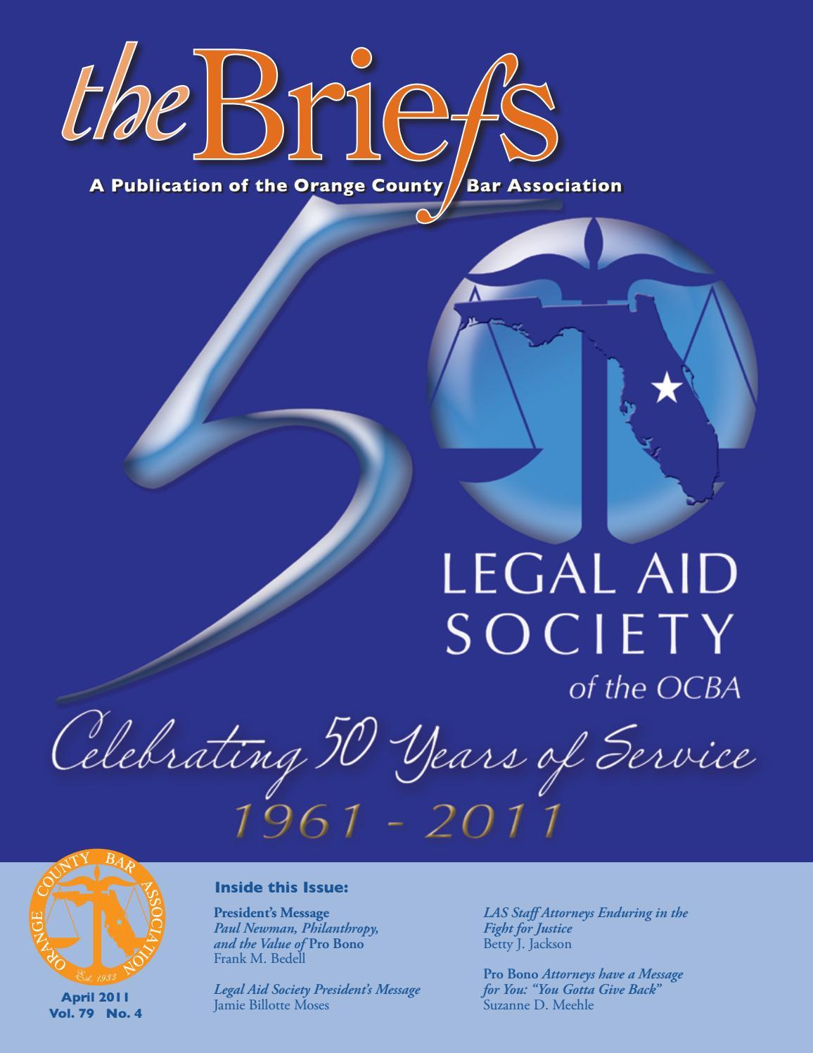 744b956ad398 Orange County Bar Association - The Briefs - April 2011 by Orange Co ...