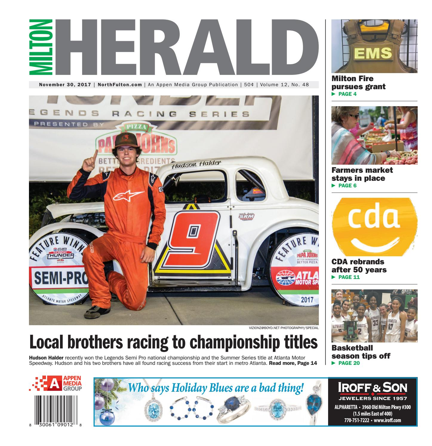 Milton Herald November 30 2017 by Appen Media Group issuu