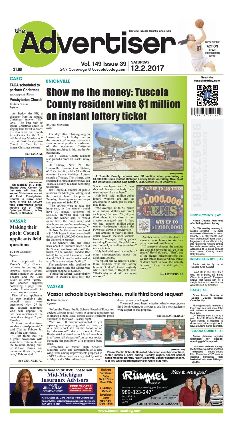Tca 12 2 17 all pages by Tuscola County Advertiser - issuu
