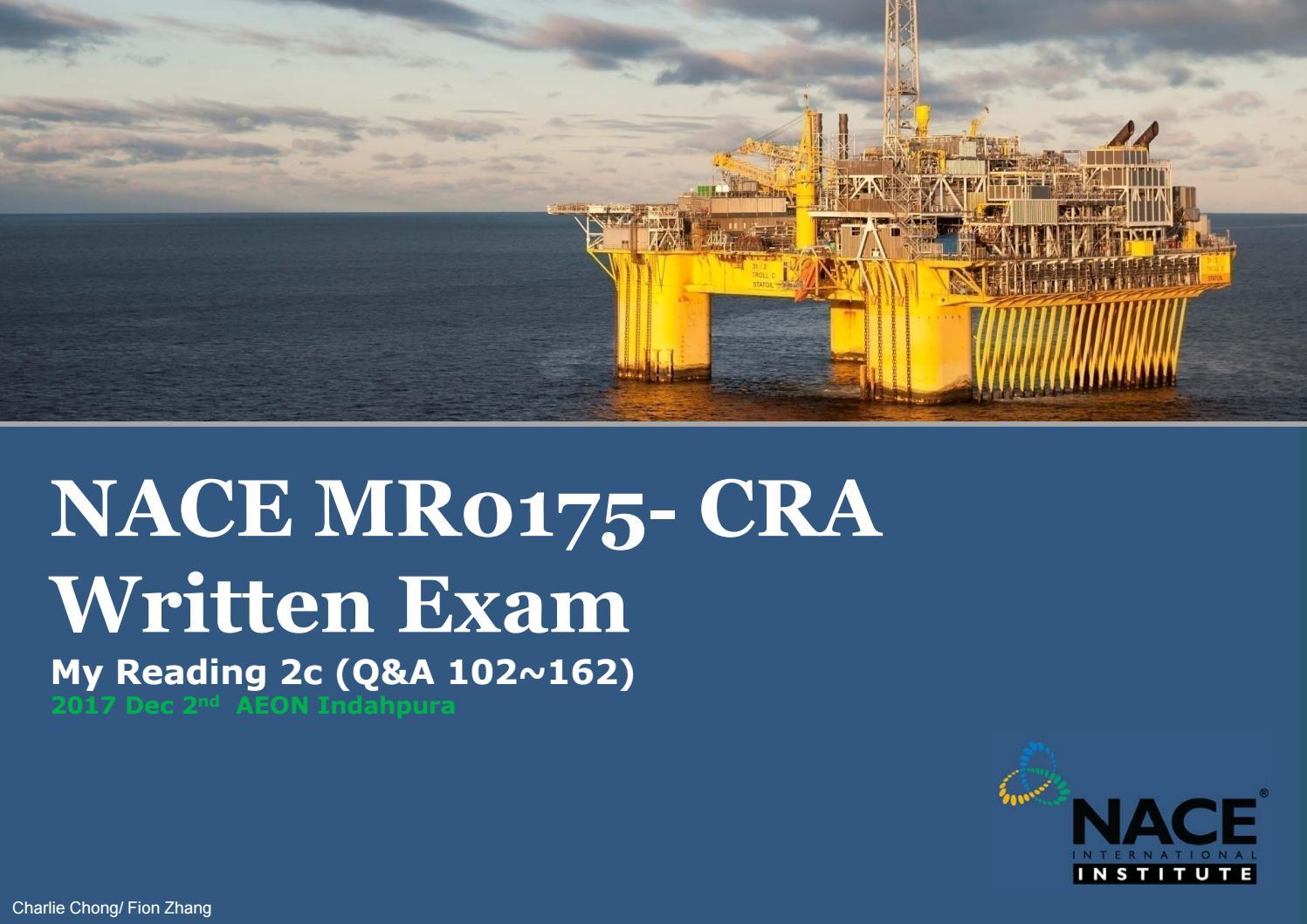 Nace mr0175 CRA Exam Note by charlie Chong - issuu