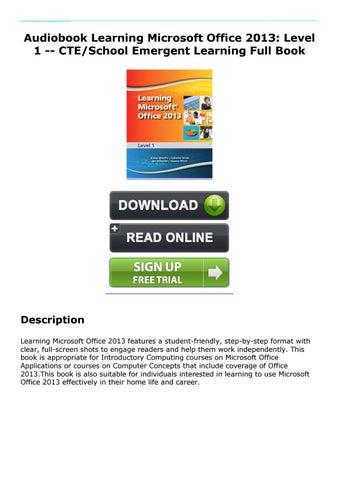 Microsoft Office Learning Pdf