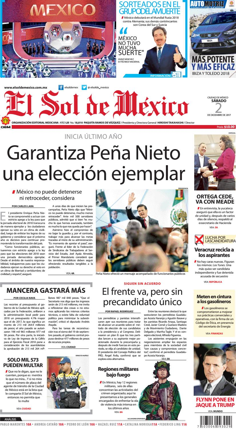 El Sol de México 2 de Diciembre by El Sol de México - issuu e0a1d9fef85