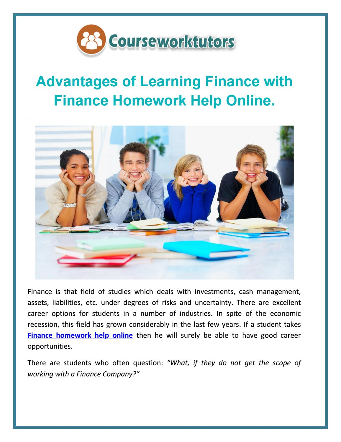 advantages of learning finance finance homework help online  advantages of learning finance finance homework help online by courseworktutors issuu