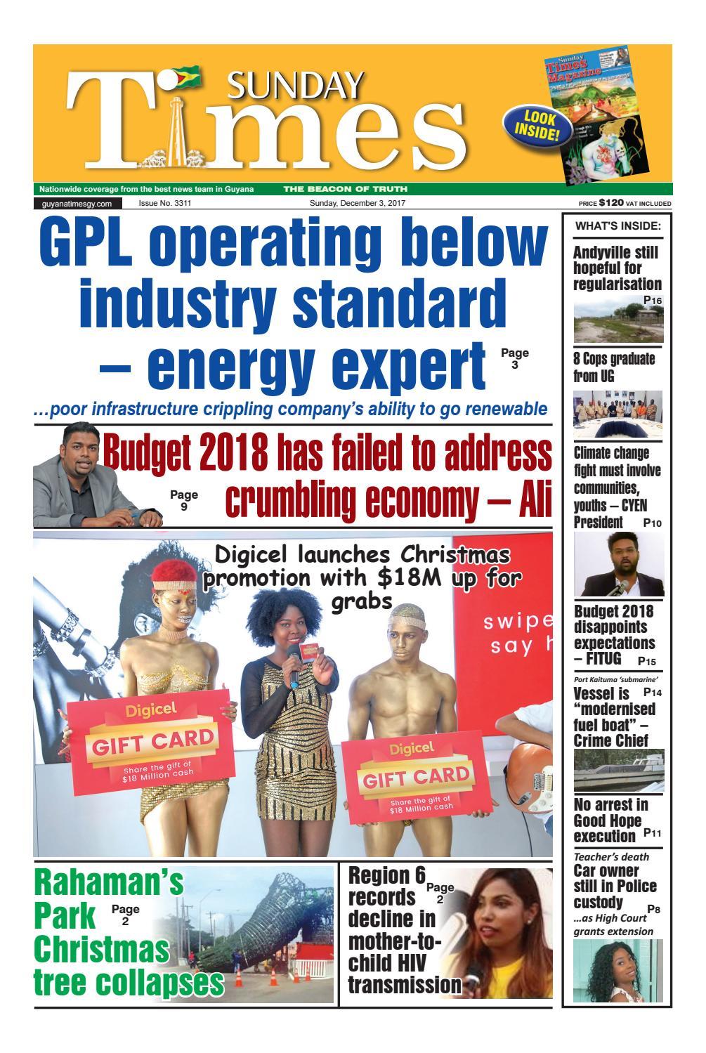 Guyanatimes 3 december 2017