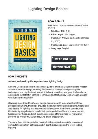 Lighting Design Basics By So Net Issuu