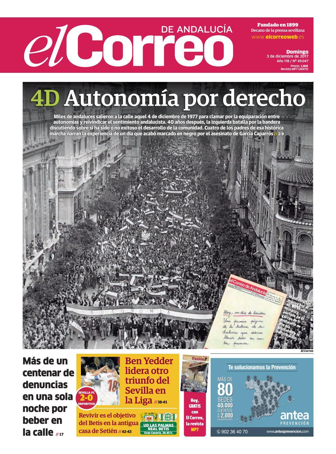 03 12 2017 El Correo De Andaluc A By El Correo De Andaluc A S L  # Muebles Caparros E Hijos