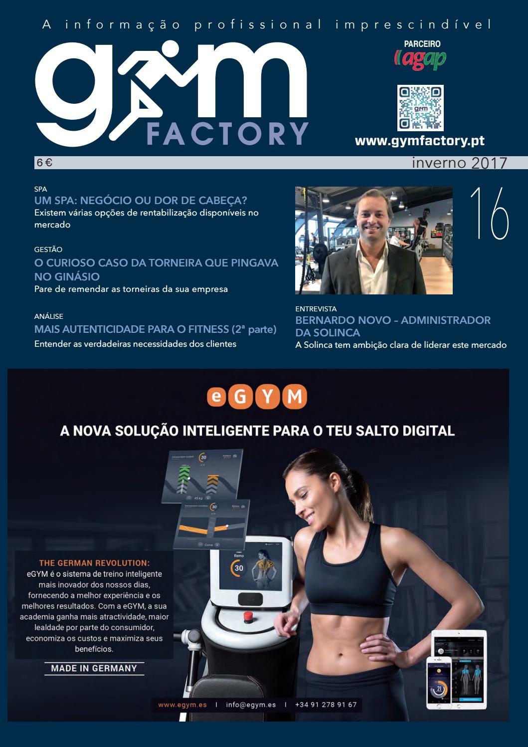 8b72354b83 Gym Factory Gestão nº16 by Gym Factory Magazine - issuu