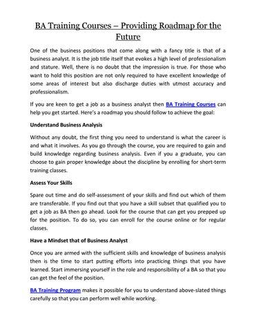 short term goals for business analyst