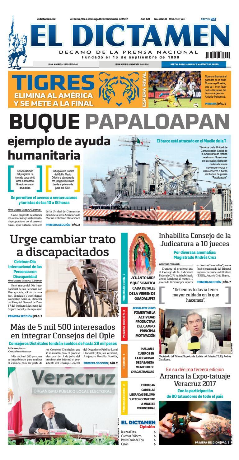 El Dictamen 03 de Diciembre de 2017 by El Dictamen - issuu