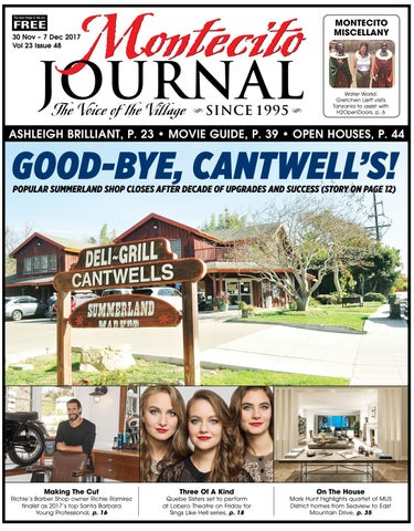 Good Bye Cantwells By Montecito Journal Issuu