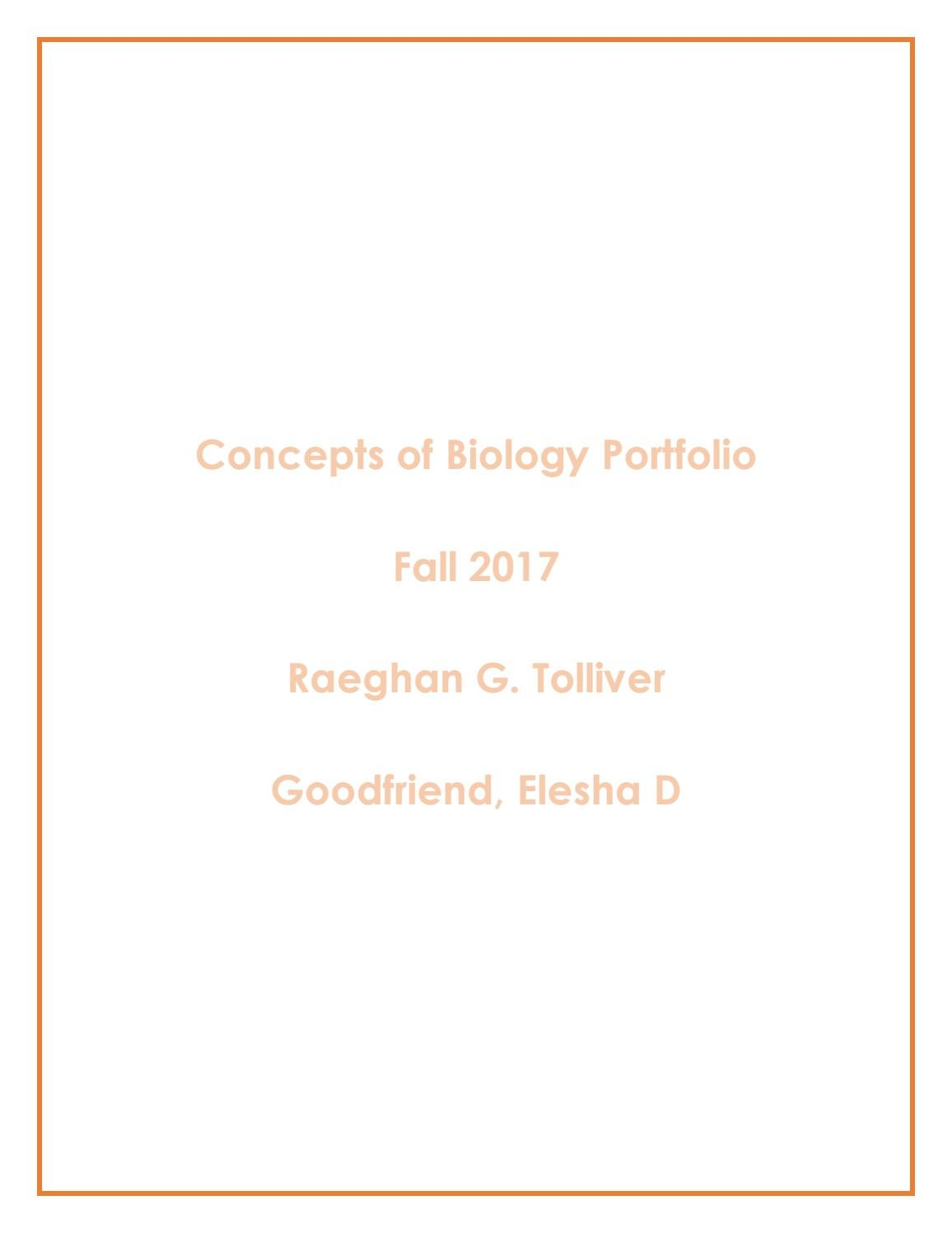 Concepts Of Biology Portfolio By Rgtolliver Issuu