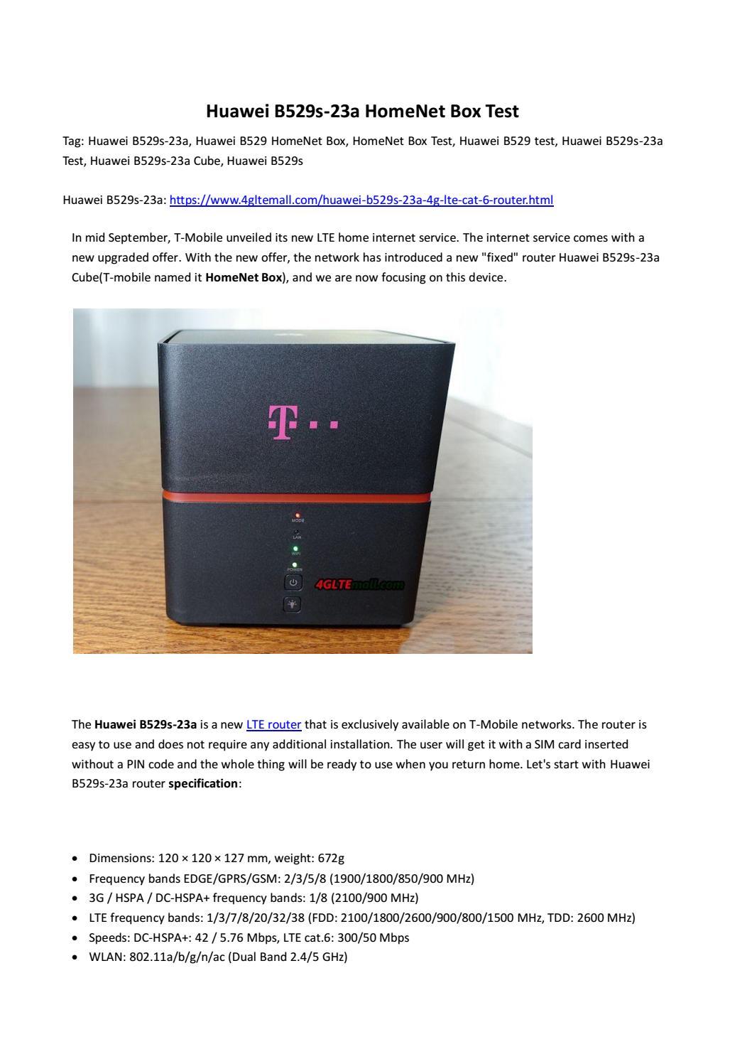 Huawei B529s-23a HomeNet Box Test by Lte Mall - issuu