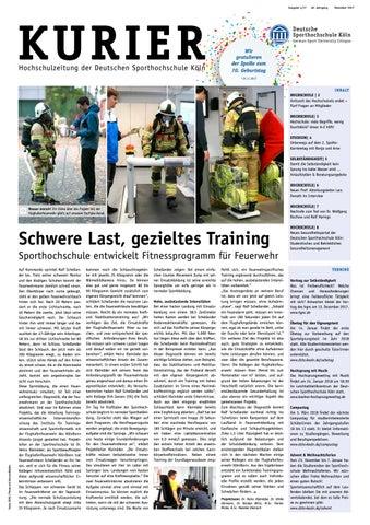 Kurier 04/2017 by Deutsche Sporthochschule Köln - issuu