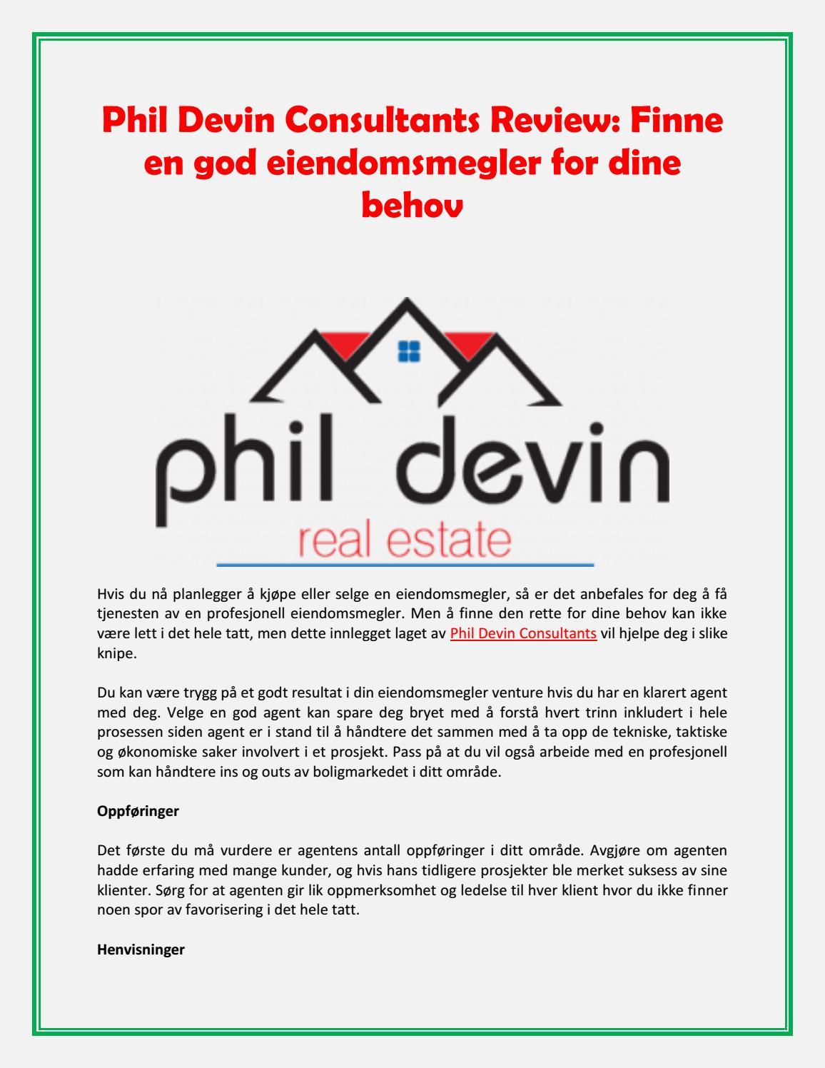 b72201d0 Phil Devin Consultants Review: Finne en god eiendomsmegler for dine behov  by urickkleiber - issuu
