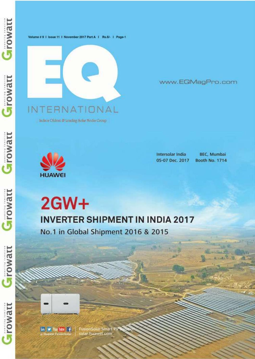 EQ Magazine PART A Nov 2017 InterSolar Special Edition by EQ Int\'l ...