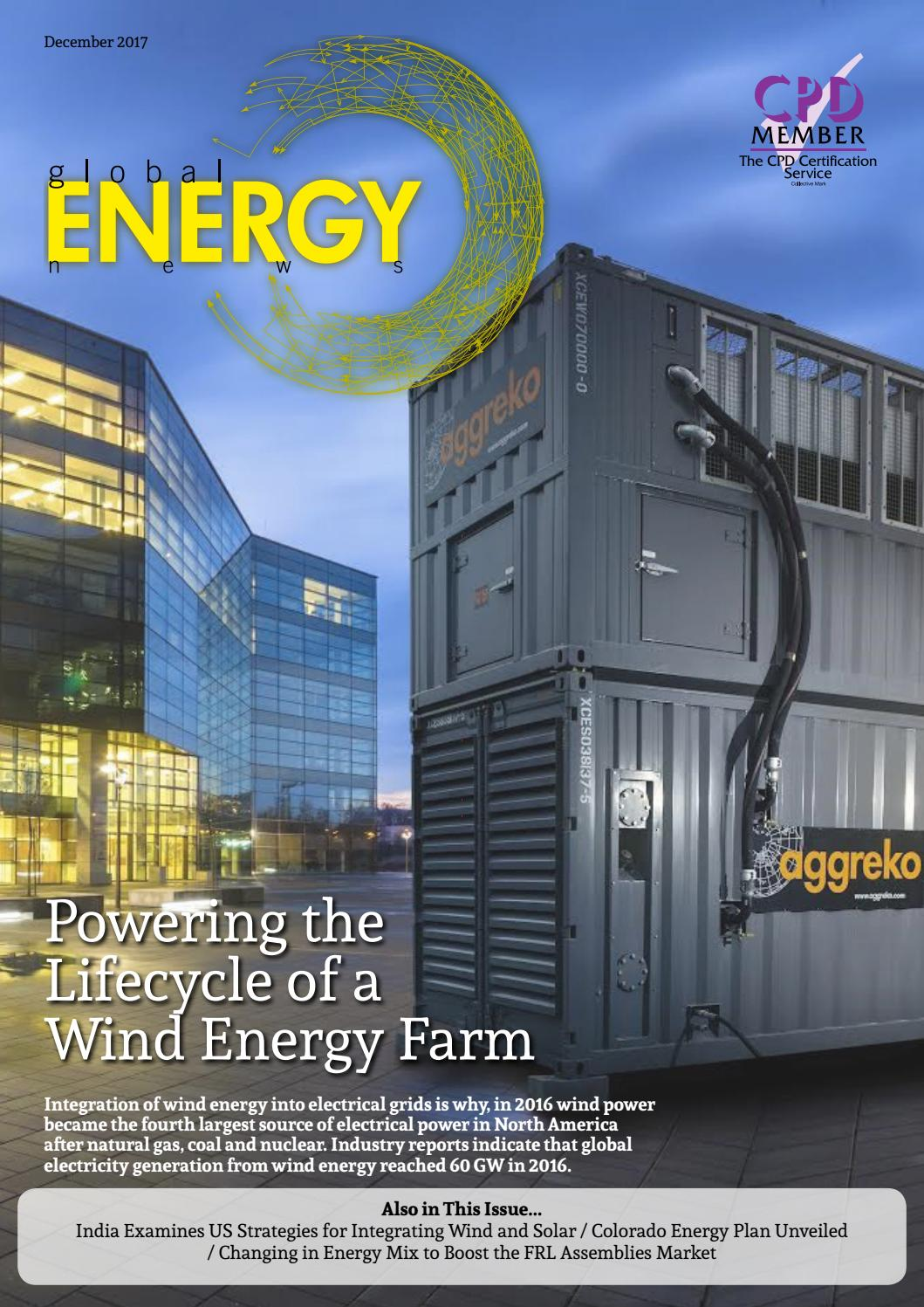 Global Energy News December 2017 Aggreko By Ai Media Issuu Towers Great Rock Windpower