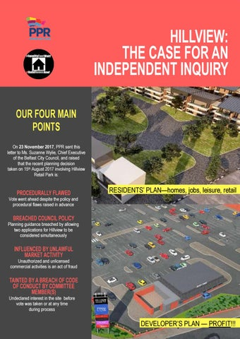 Hillview: The Case for An Independent Inquiry by