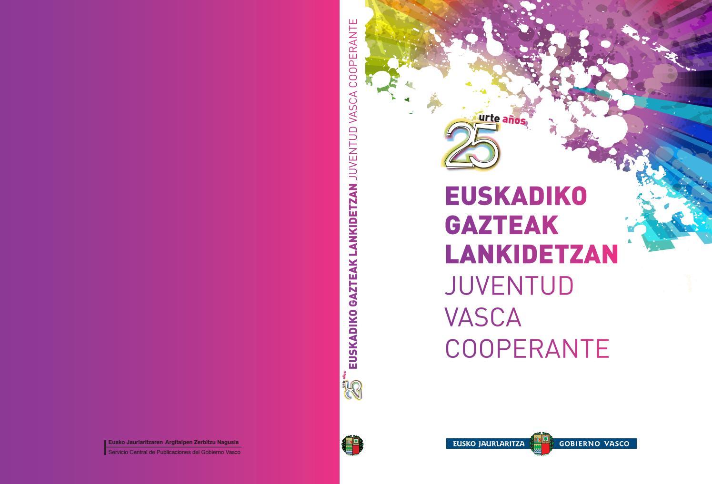 Euskadiko Gazteak Lankidetzan Liburua Juventud Vasca Cooperante  # Muebles Goikoetxe Berriz