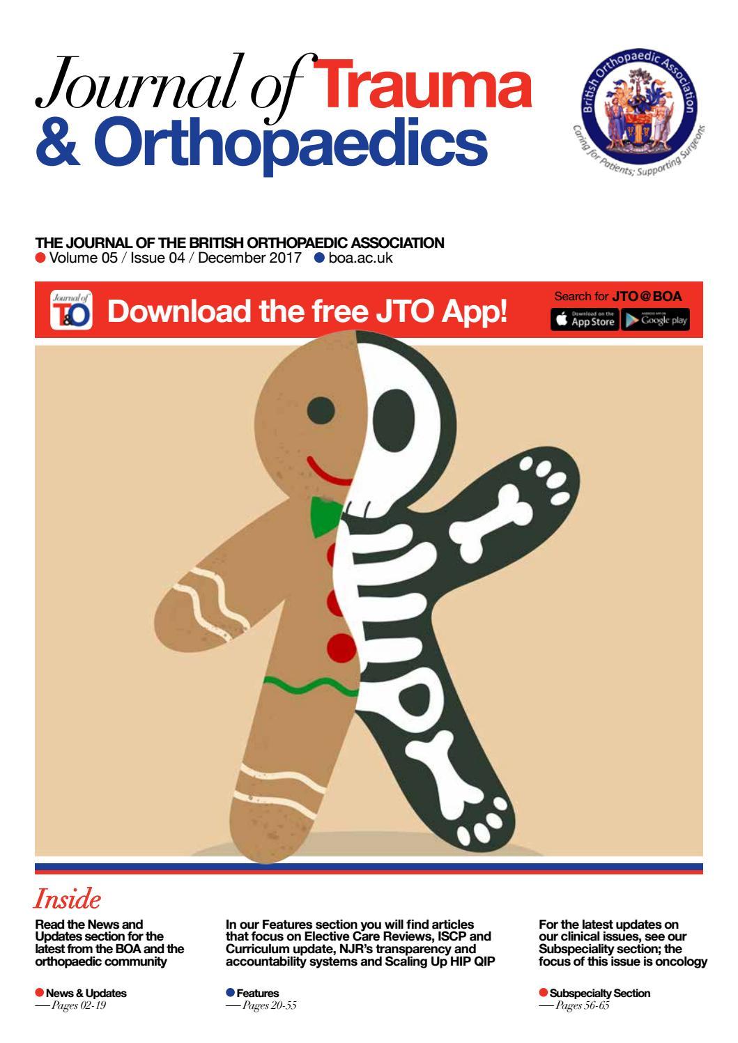 Journal of Trauma & Orthopaedics – Vol 5 / Iss 4 by British