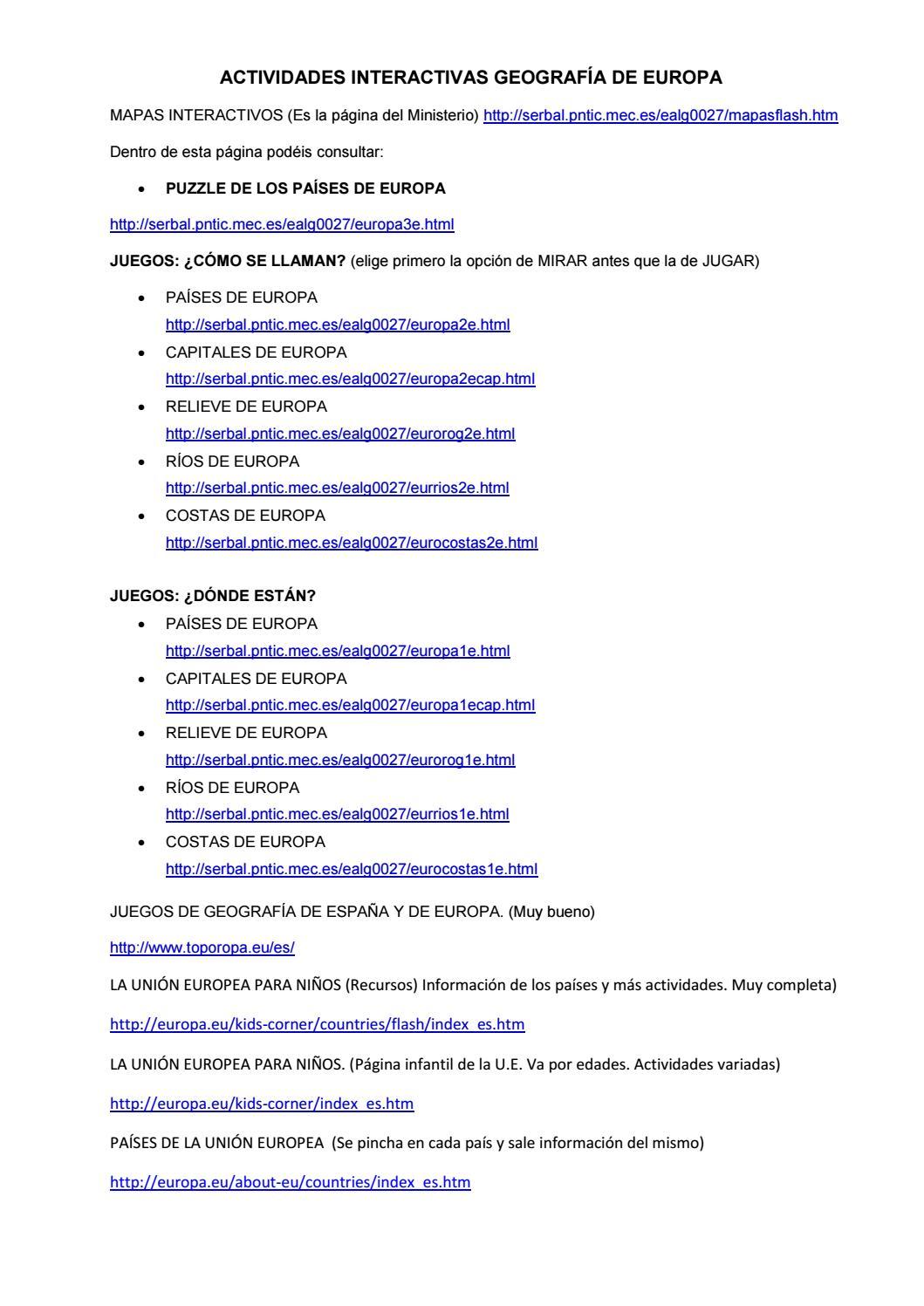ACTIVIDADES INTERACTIVAS  PAISAJES DE EUROPA  by pablo gomez