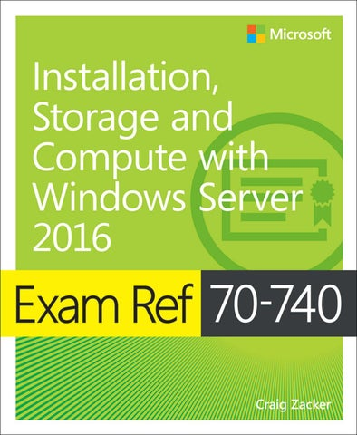 Exam ref 70 740 installation, storage and compute with windows