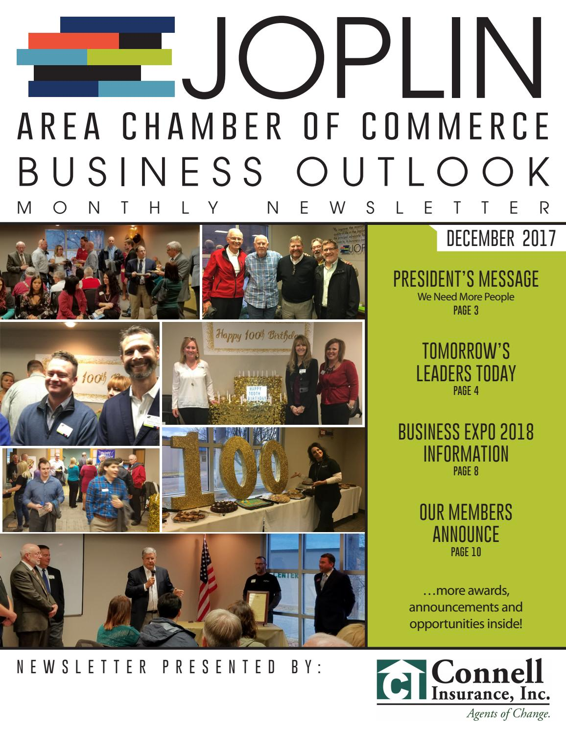 Business Outlook December 2017 by Joplin Area Chamber of Commerce ...