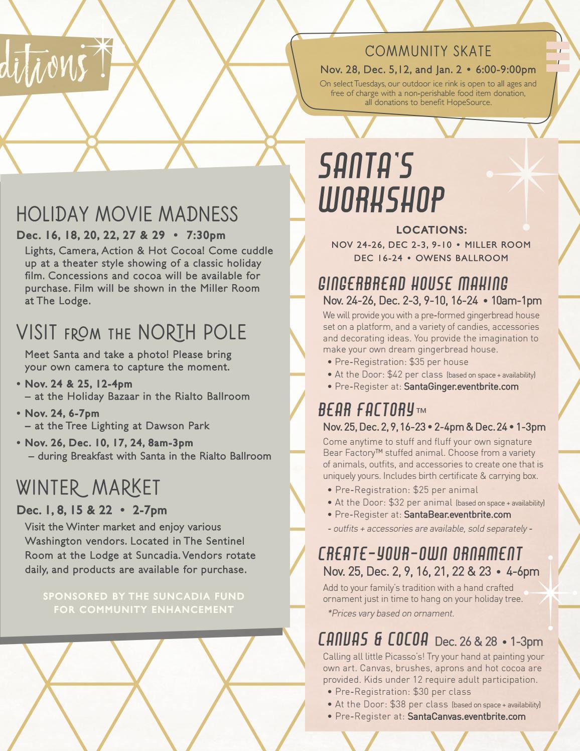 Suncadia Winterfest Guide 2017 by Suncadia Resort - issuu