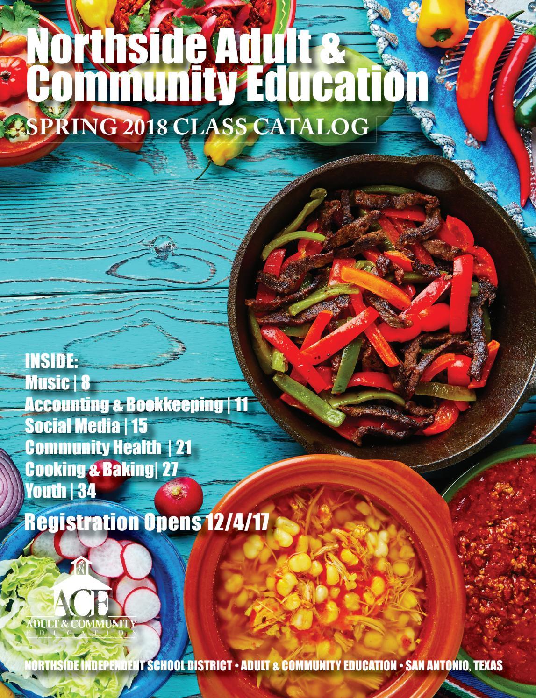 Nisd Community Education Spring 2018 Catalog By Nisd Community Ed  # Model Table Telz En Bois
