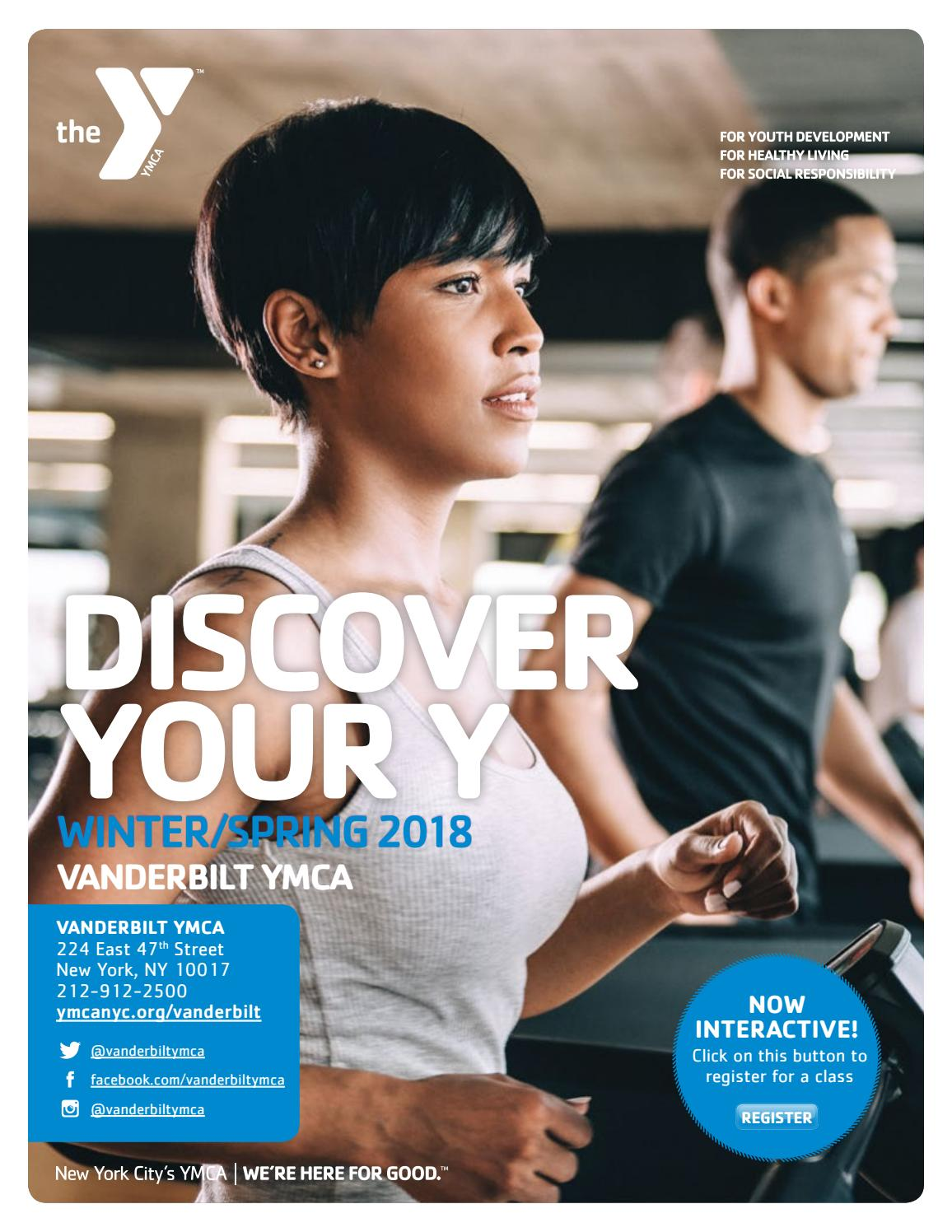 vanderbilt program guide winter/spring 2018 by new york city's ymca