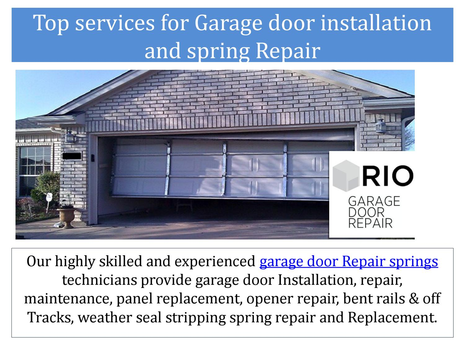 Top Services For Garage Door Installation And Spring By Garage Door Installation Issuu