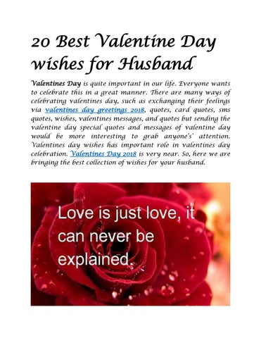 20 Best Valentine Day Wishes For Husband By Wishes Quotes Issuu