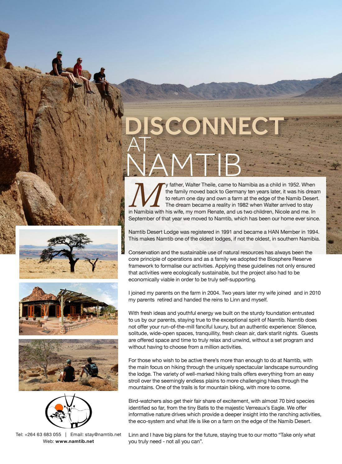 Travel News Namibia HAN Special Edition by Venture Media - issuu