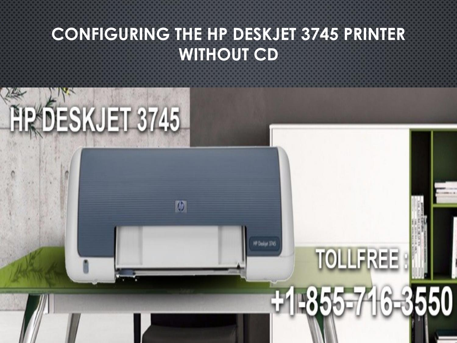 How to Install HP DeskJet 3745 printer without CD? by 123-HP