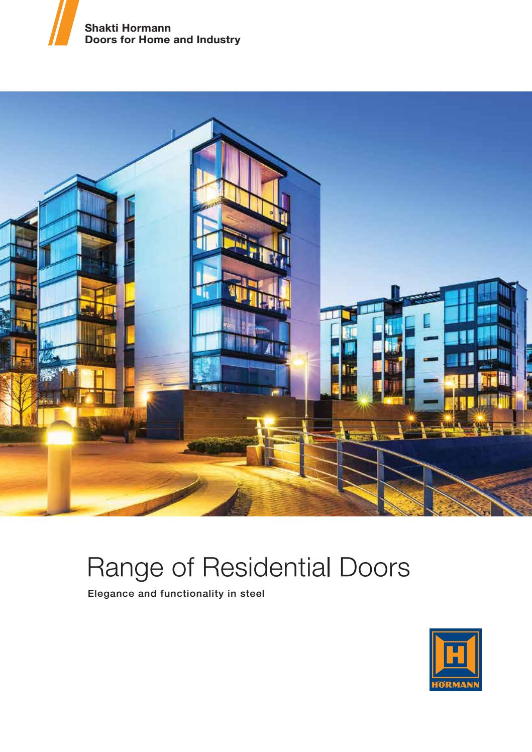 Shakti Hormann Doors for Home and Industry|Steel doors in Hyderabad|residential doors u0026 windows by Active Group - issuu  sc 1 st  Issuu & Shakti Hormann Doors for Home and Industry|Steel doors in ... pezcame.com